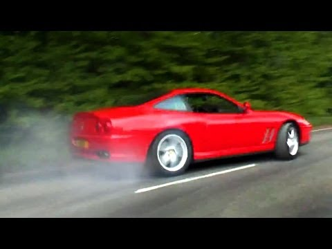 Ferraris Burnouts, Powerslides, Revs and Accelerations!!! [HD]