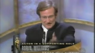 Robin Williams winning Best Supporting Actor for Good Will Hunting
