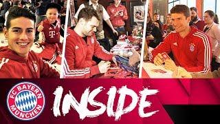 Neuer, James and Müller visit FC Bayern Fan Clubs! | Inside FC Bayern