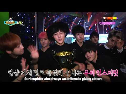 [ENG SUB] 140531 INFINITE Show Champion Backstage