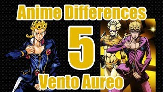 Jojo Anime & Manga Differences Part 5 - Vento Aureo