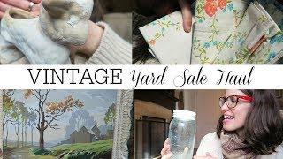 Old Farmhouse Yard Sale Haul | Vintage Home Decor Finds