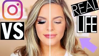 INSTAGRAM MAKEUP VS REAL LIFE! | Casey Holmes