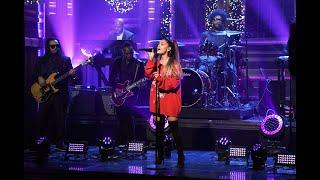 "Ariana Grande hitting LIVE WHISTLE TONES in ""imagine"" on Jimmy Fallon"