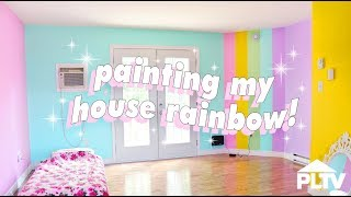🌈🏠 PAINTING MY HOUSE RAINBOW 🏠🌈