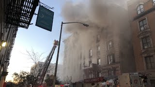 LIVE: Just arrived at 6 Alarm Fire, Inwood, Manhattan