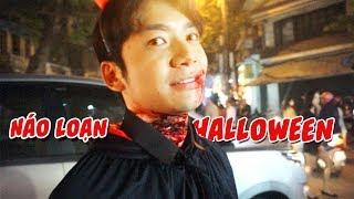 Anh Tóc Xanh Hóa Trang Ghê Rợn Náo Loạn Đường Phố Halloween