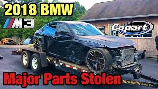 Rebuilding a Totaled Wrecked 2018 BMW M3 From Copart, All Of The Major Parts Were Stolen