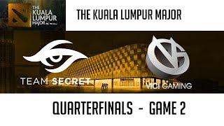 Team Secret vs Vici Gaming (Game 2)   The Kuala Lumpur Major [Quarterfinals]