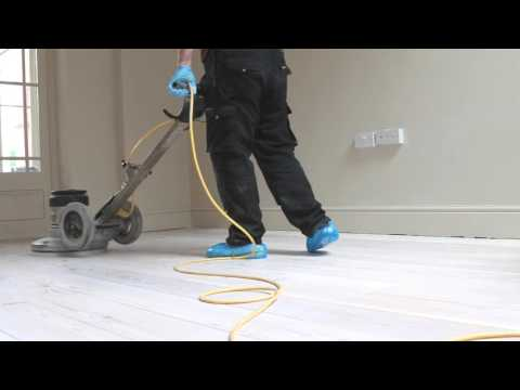 Pine wood floor Sanding Cambridge Whitewash finish