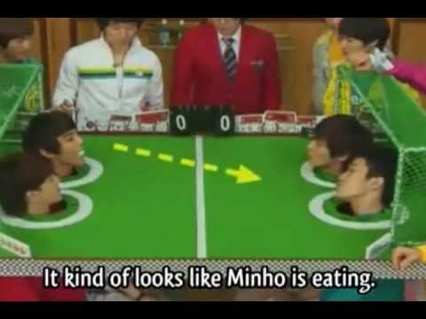 Minho(SHINee) and Nichkhun(2pm) vs Jonghyun(SHINee) and jaebum(2pm) cut