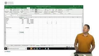 Excel. Constantes matriciales y funciones con matrices | 52/107 | UPV