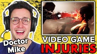 Real Doctor Evaluates Injuries In Video Games Ft. Doctor Mike