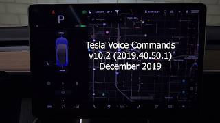 All the New Tesla Voice Commands - 2019.40.50.1