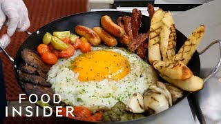 We Tried This Giant Ostrich Egg Breakfast | WTF Food