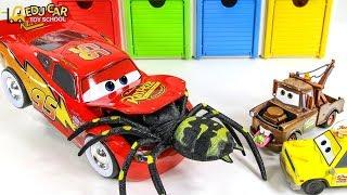 Learning Color Disney Lightning McQueen mack truck bugs play for kids car toys