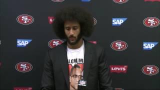Colin Kaepernick Speaks on Fidel Castro and Malcolm X | 49ers vs. Dolphins | NFL