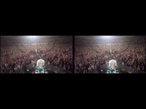@DrBrianMay Selfie Stick Video |3D| Denver, USA [July 6, 2017] Queen + Adam Lambert
