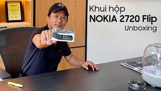 Nokia 2720 Flip Unboxing - Khui hộp Nokia 2720 Flip chính hãng vừa bán ra  đầu tiên tại Việt Nam