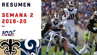 RAMS APROVECHÓ LESIÓN DE BREES PARA APLASTAR A SAINTS | HIGHLIGHTS RAMS VS SAINTS