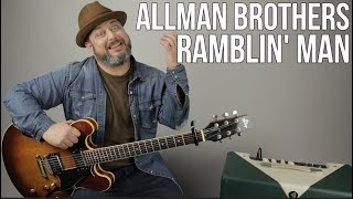 Allman Brothers - Ramblin' Man - Guitar Lesson