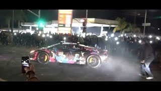 Alex Choi Doing Donuts In The 818 Valley Huracan