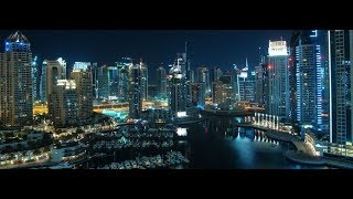 Dubai Marina walk night view