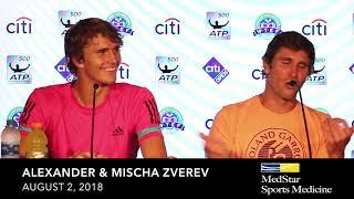 Alexander & Mischa Zverev - August 3, 2018