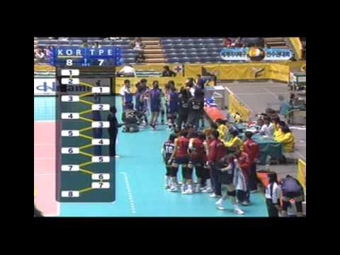 2006 World Championships Women's Volleyball KOR X TPE 1SET [1/2]