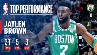Jaylen Brown Comes Up HUGE With The Game Winner In Utah