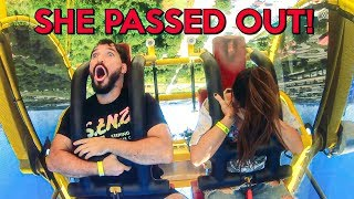 MOST DANGEROUS AMUSEMENT PARK IN WORLD! w/ Andrea Russett & Corey Scherer