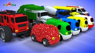 Learning Colors Chocolate transforming baby car and city Vehicle car Play for kids car toys - YouTube