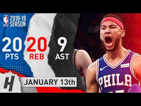 Ben Simmons MSG SHOW! Full Highlights 76ers vs Knicks 2019.01.13 - 20 Pts, 20 Reb, 9 Ast
