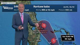 3 p.m. Saturday update on Hurricane Isaias