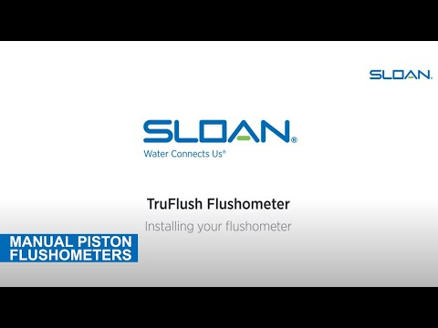 Sloan TruFlush Installation