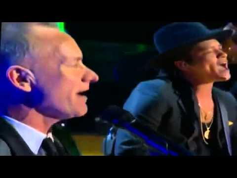 Rihanna   Bruno Mars   Sting Ziggy Marley   Could you be loved Bob Marley Tribute Grammys 2013