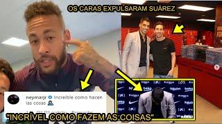 Neymar e Messi se comovem com choro de Suárez em despedida do Barça e mandam recado para dirigentes