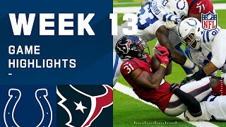 Colts vs. Texans Week 13 Highlights | NFL 2020