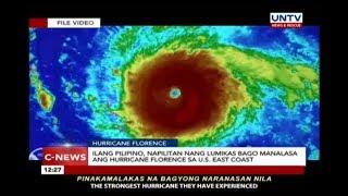Ilang Pilipino, napilitan nang lumikas bago manalasa ang Hurricane Florence sa US East Coast