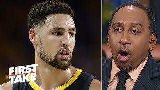 Steve Kerr says Klay Thompson 'unlikely' to play this season, Stephen A. doesn't buy it   First Take