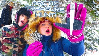 Looking for the Treasure in the Frozen Wild Arctic! Frozen Mountain Hunt! / The Beach House