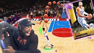 I Broke My Chair Shooting 3's with Ben Simmons! NBA 2K19