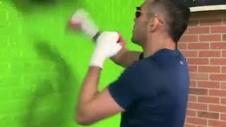 Tony Ferguson hitting speed bag with elbows 2020