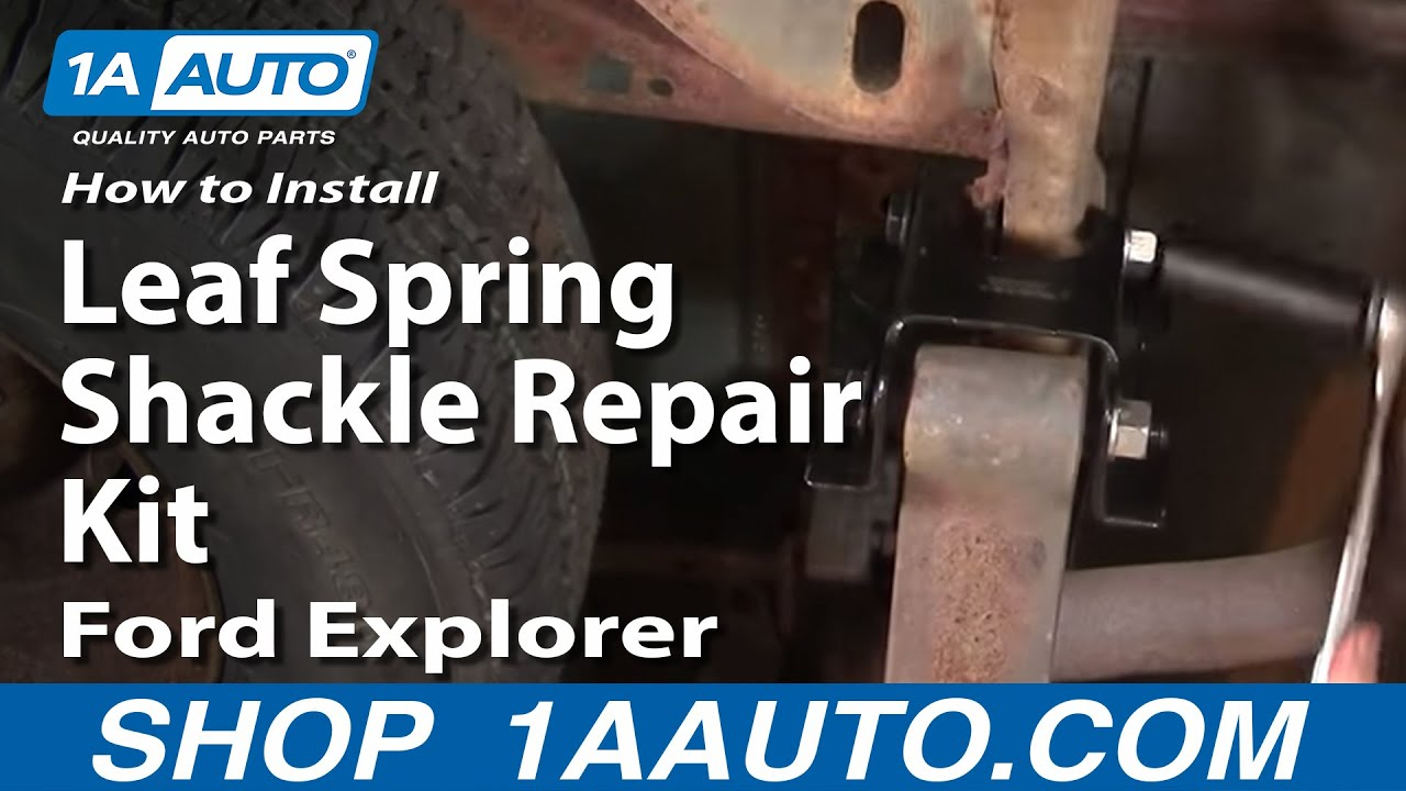 rear spring explorer ford shackles 1996 leaf shackle sport replace install trac repair kit mountaineer