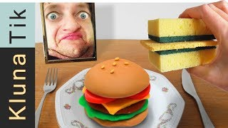 SPONGE SANDWICH & CLAY BURGER for LUNCH!
