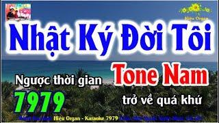 Karaoke 7979 Nhật Ký Đời Tôi Nhạc Sống Tone Nam || Hiệu Organ Guitar 7979 || Beat Chất Lượng Cao