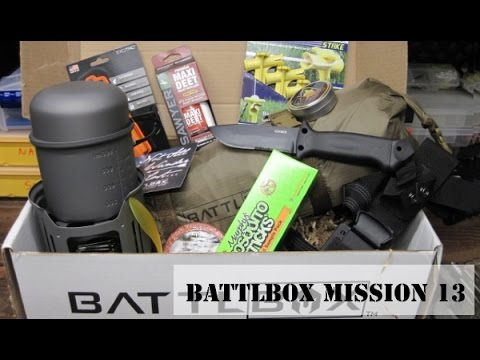 Battlbox  Mission 13 Solo Camp Unboxing