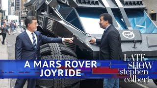 Stephen Drives NASA's Mars Rover With Neil deGrasse Tyson
