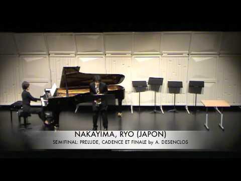 NAKAYIMA, RYO (JAPON) Prelude Cadence et Finale DESENCLOS