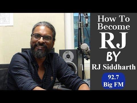 How to Become a Radio Jockey with 92.7 Big FM RJ Siddharth